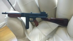 Hand made replica thompson machine gun